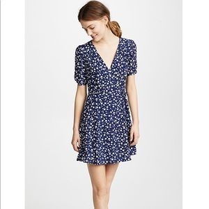 MinkPink Shady Days Tea Dress Blue Floral Small